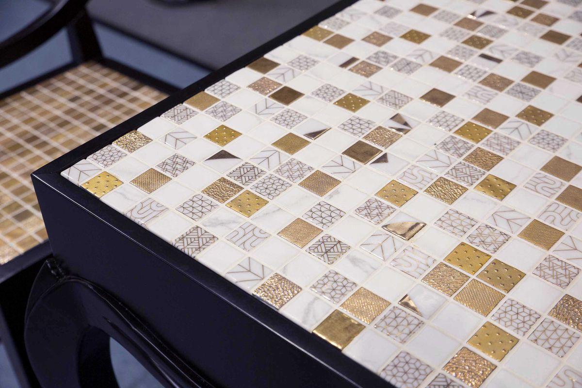 mosaico con oro - gold mosaic