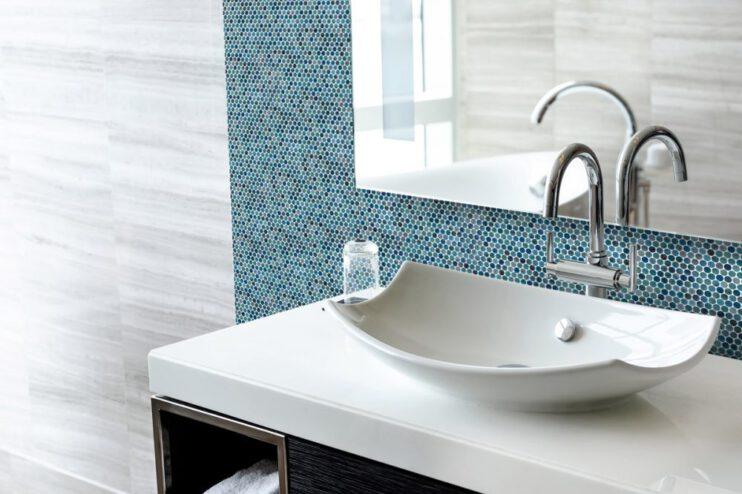 Penny vanguar mosaico para baños
